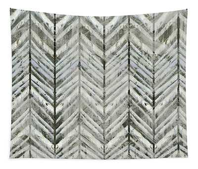 Herringbone Lodge Abstract Modern Pattern Tapestry