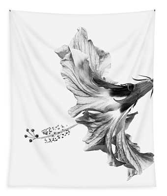 Hibiscus In Black And White Tapestry