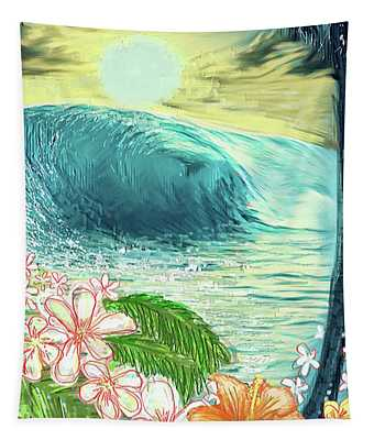Hibiscus Wave Tapestry