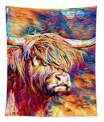 Highland Cow 6 Tapestry
