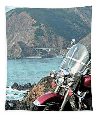 Highway One Harley Tapestry