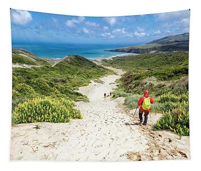 Hiking To Sandfly Bay New Zealand Tapestry