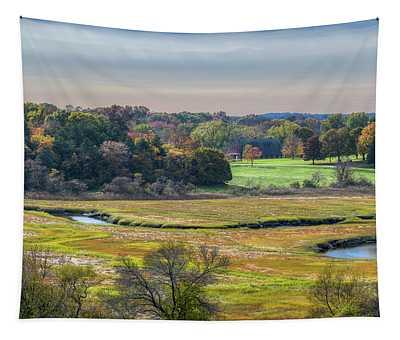 Hill Top View, Estuary Crane Estate Tapestry