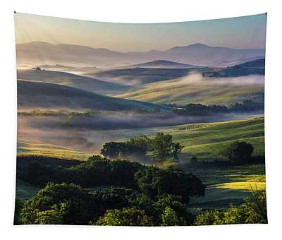 Hilly Tuscany Valley Tapestry