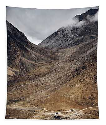 Tapestry featuring the photograph Himalayan Outpost by Whitney Goodey