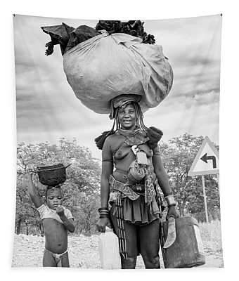 Himba Both Carrying  Tapestry