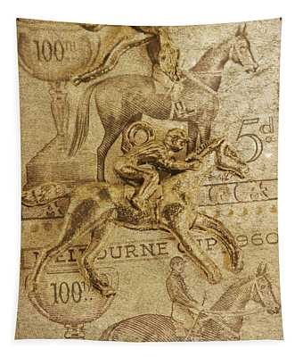 Historic Horse Racing Tapestry