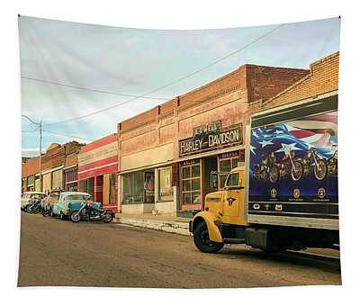 Historic Lowell In Bisbee Arizona Tapestry