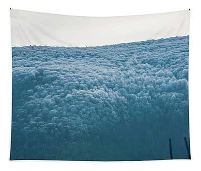 Hoarfrost Blue Mountain Tapestry