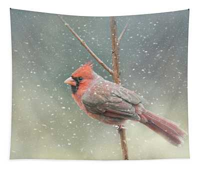 Hold On Baby It's Snowing Tapestry