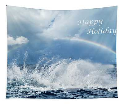 Holiday Card Resounding Joy Tapestry