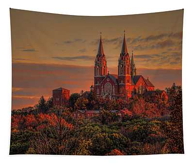 Holy Hill Sunrise Tapestry