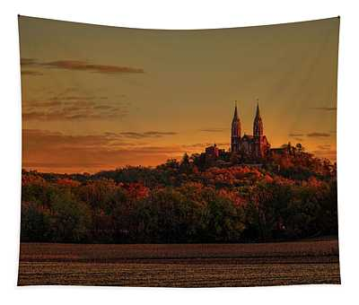 Holy Hill Sunrise Panorama Tapestry