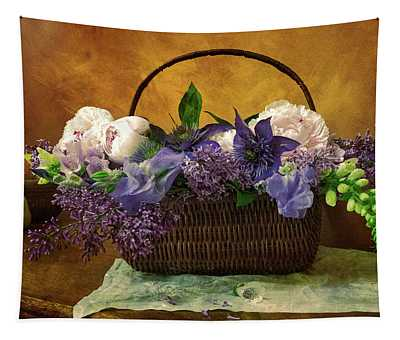 Home Grown Floral Bouquet Tapestry