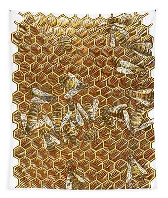 Honey Bees Tapestry