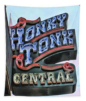 Honky Tonk Central - Nashville Tapestry