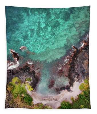Honokohau Harbor Beach Aerial Tapestry