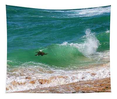 Honu Surfing Tapestry