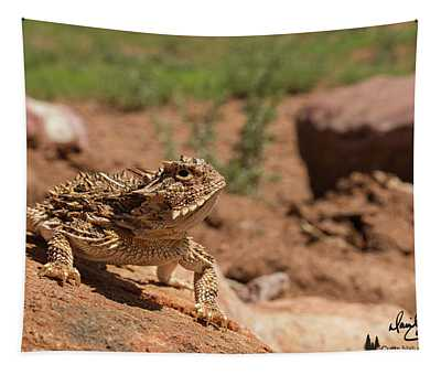Horned Lizard Tapestry