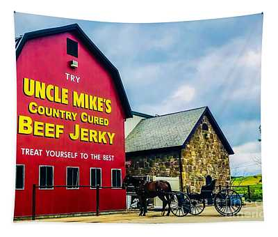 Horse And Buggy Life Tapestry