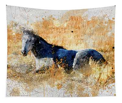 Horse Watercolor Tapestry