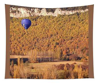 Hot Air Balloon, Beynac, France Tapestry