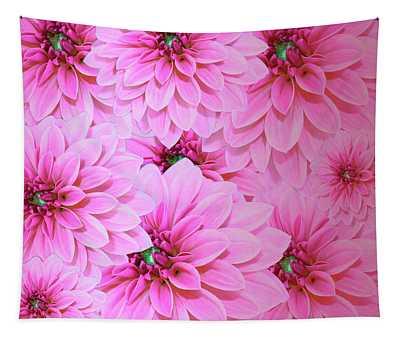 Hot Pink Dahlias  Tapestry