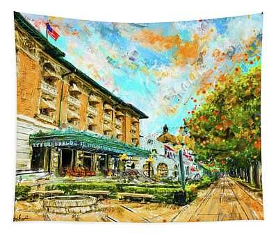 Hot Springs, Arkansas Bath House Tapestry
