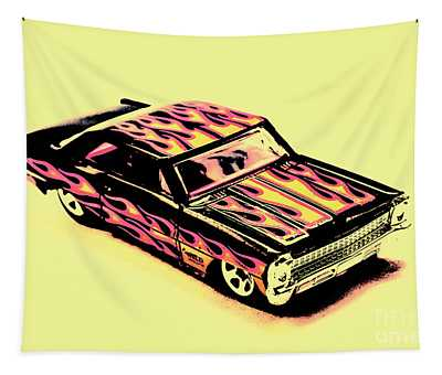 Hot Wheels Tapestry