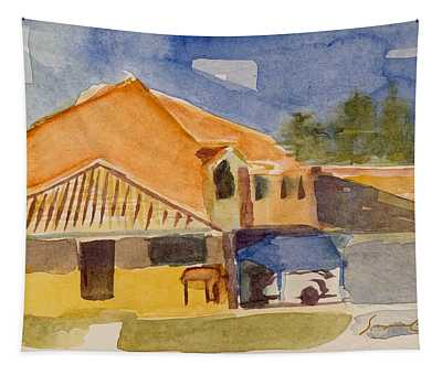 House Across The Way Tapestry