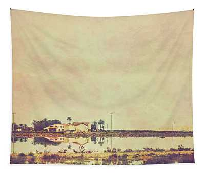 House By The Lake Tapestry