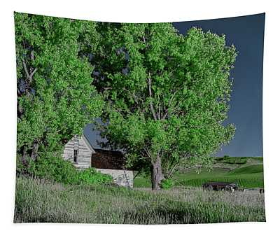 House In The Palouse Tapestry