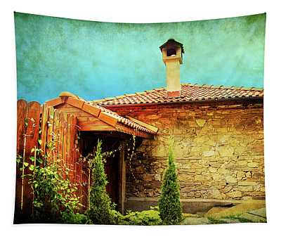 House Up In The Mountains  Tapestry