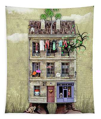 House With Personality Tapestry