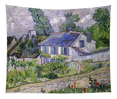 Houses At Auvers, Circa 1890 Tapestry