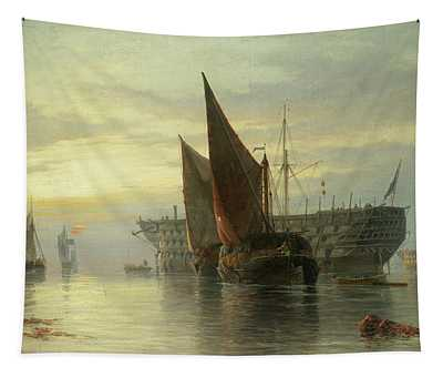 Hulks At Rest, Sunrise Tapestry