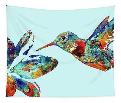 Hummingbird Blue - Sharon Cummings Tapestry