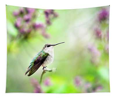 Hummingbird Charm Tapestry
