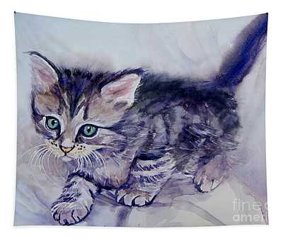 Hunting For A Mouse Tapestry