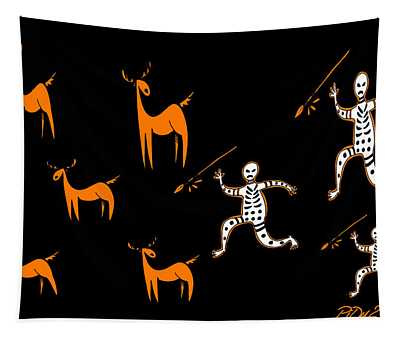 Hunting For Deer Tapestry