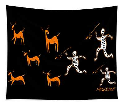 Hunting For Deer Tapestry