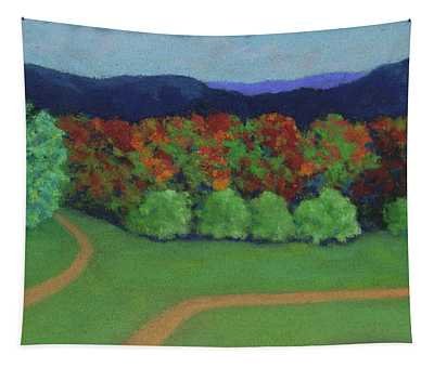 Hutchins Farm In Fall Tapestry
