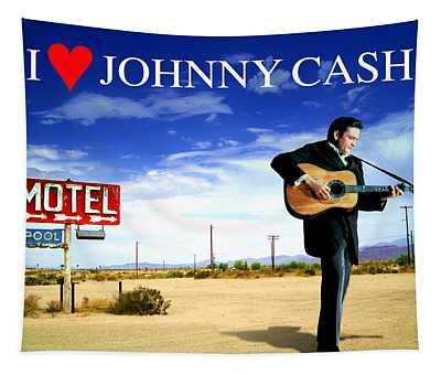 I Love Johnny Cash Tapestry