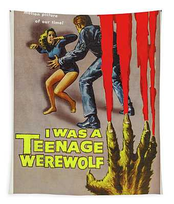 I Was A Teenage Werewolf Movie Poster Tapestry