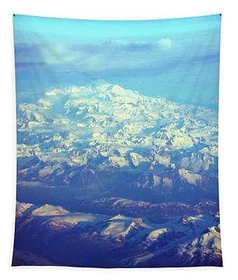 Ice Covered Mountain Top Tapestry