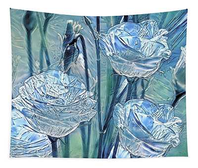 Ice Lisianthus Tapestry