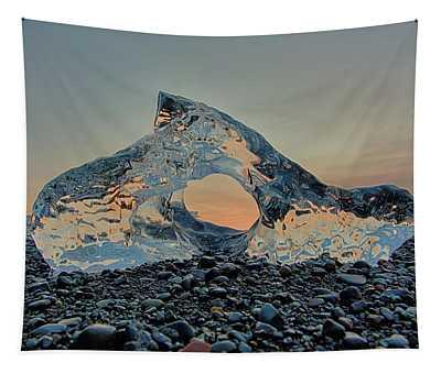 Iceland Diamond Beach Abstract  Ice Tapestry