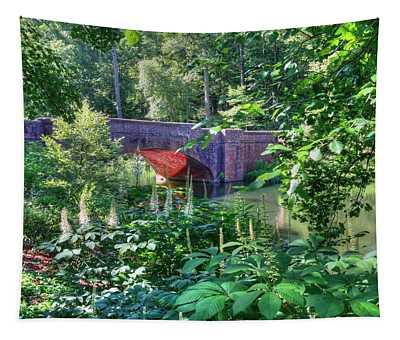 Iconic Red Brick Bridge  Tapestry