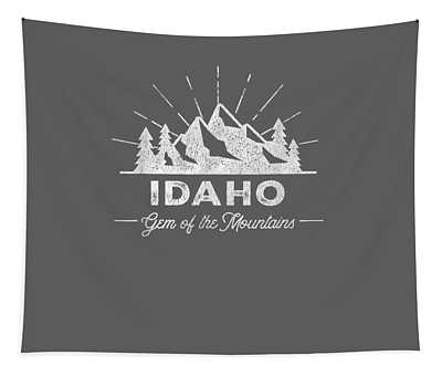 Idaho T Shirt Vintage Hiking Retro Tee Design Tapestry