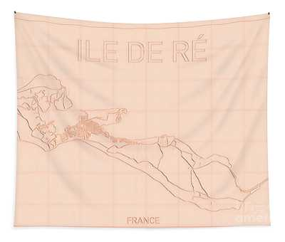 Ile De Re Blueprint Map Tapestry